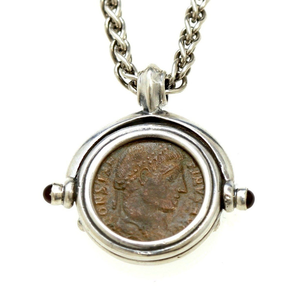 Sterling Silver Necklace, Ancient Roman Bronze Coin, Genuine Ancient Coin, with Certificate -2015