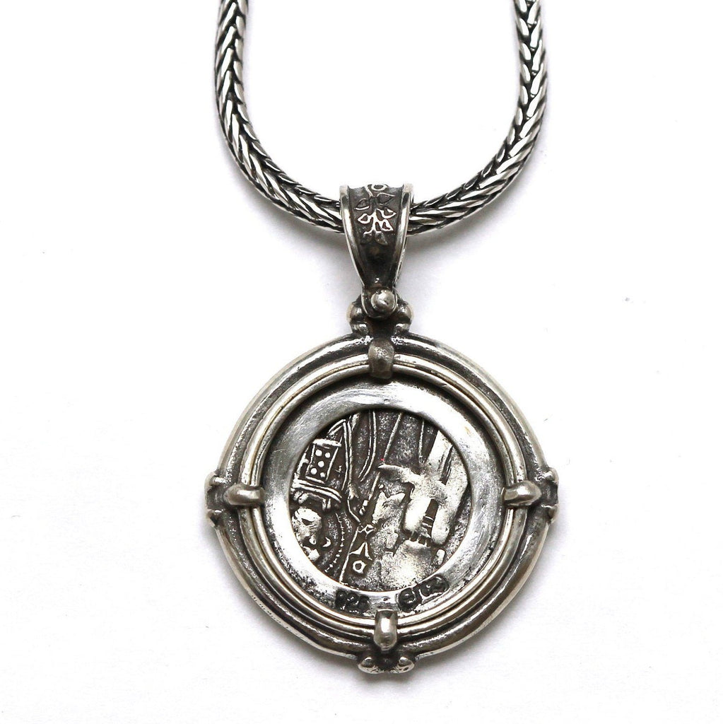 Sterling Silver Pendant, Venetian Grosso, Byzantine Coin, 7081