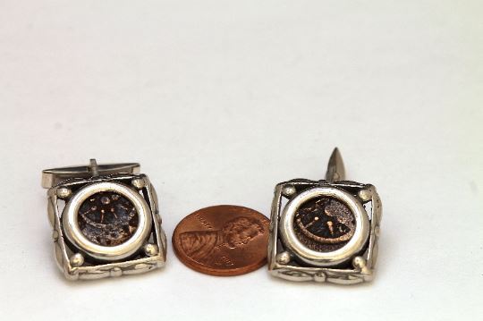 Widows Mite, Silver Cufflinks, Genuine Ancient Coin, with Certificate 6655 - Erez Ancient Coin Jewelry