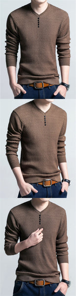 Men's Sweaters / Casual V-Neck Pullover for Men - Lillie