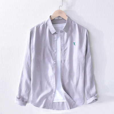 Men's Casual Shirts /  Men's 100% Linen Long Sleeve Shirts - Lillie