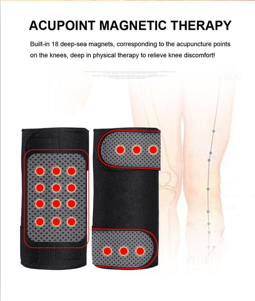Magnetic Therapy Knee Support / 2pcs Tourmaline Self Heating Knee pad / Tourmaline Heating Belt Knee - Lillie