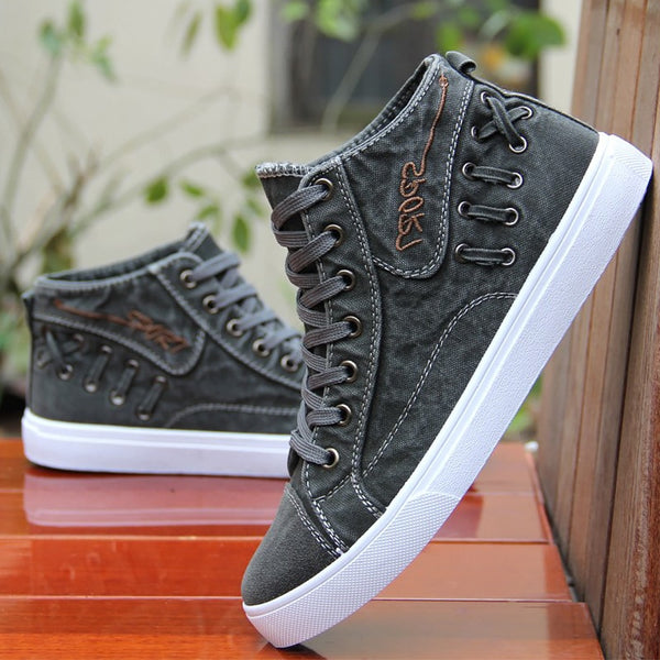 Men's High top Casual shoes / Canvas Men's Sneakers - Lillie