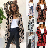Printed Long Knitted Long Sleeve Plus size  Cardigan for Women/Long Cardigan for Ladies - Lillie