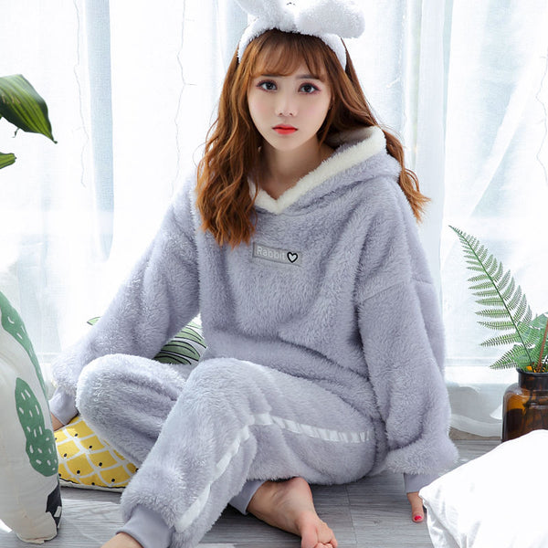 Women Sleepwear/ Cute design Warm Flannel Pajamas for women - Lillie