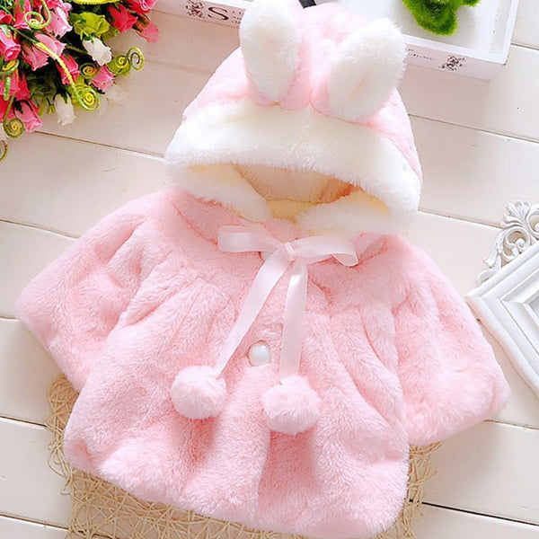 Infant Newborn Baby Girl Coat/ Cute fashion Rabbit baby Jacket Coat - Lillie