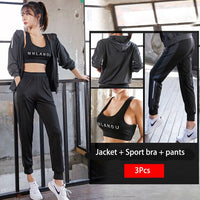 Tracksuit  for Women / Woman fitness set, yoga set, gym set, outdoor clothing/ New Hooded Sportswear - Lillie