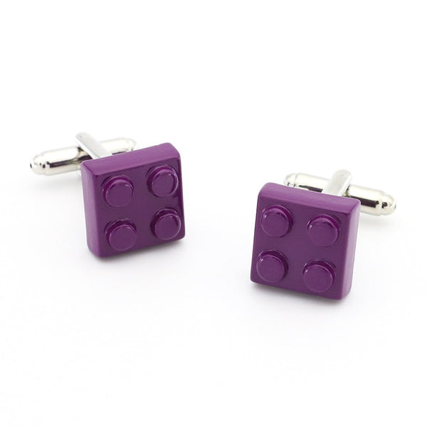 Block Cufflinks Muti-color Bricks Design for Men - Lillie