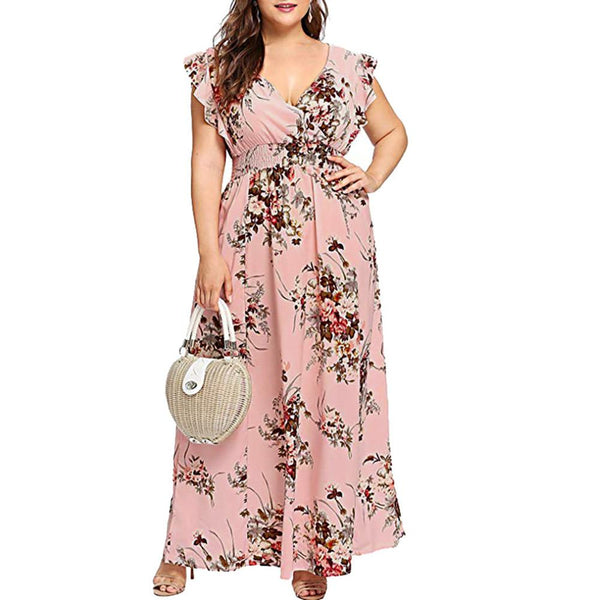Women Plus Size Summer Dress/  Party Maxi Dress - Lillie
