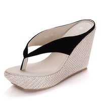 Crystal Queen Platform Wedges / High heel Sandals - Lillie