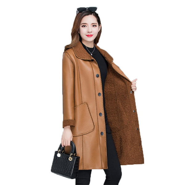 Women's Winter warmth faux leather Coats/Jackets - Lillie