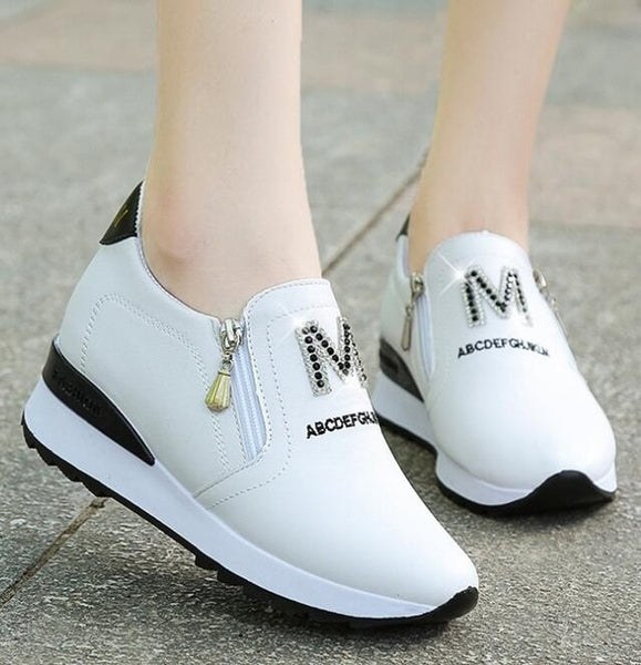 Sports & Casual New Pedal Casual Shoes White Platform - Lillie