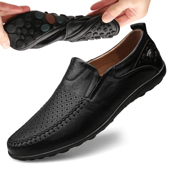 Men's Luxury Casual Flats Leather Shoes/Loafers - Lillie