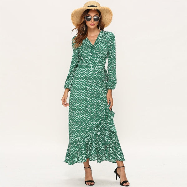 Summer Dress for Women / Long Bohemian Dresses Print Maxi - Lillie