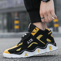 Men High-top Sport Shoes / Men's Mix Color Light Basketball Sneakers /Outdoor Sports Shoes for Men - Lillie