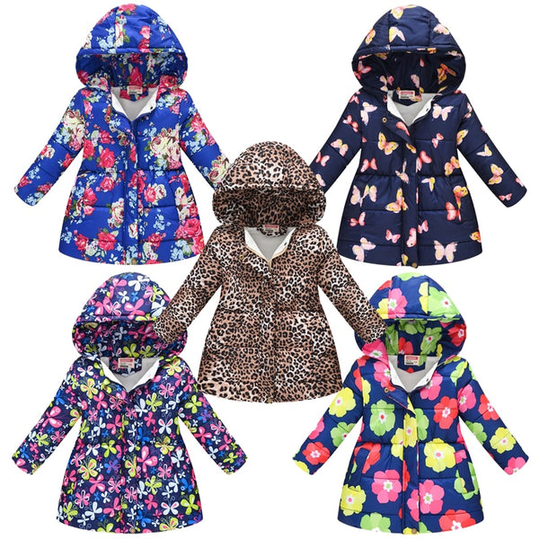 Girls Winter Jackets / Cotton-Padded Mickey Clothes Jackets For Girls - Lillie