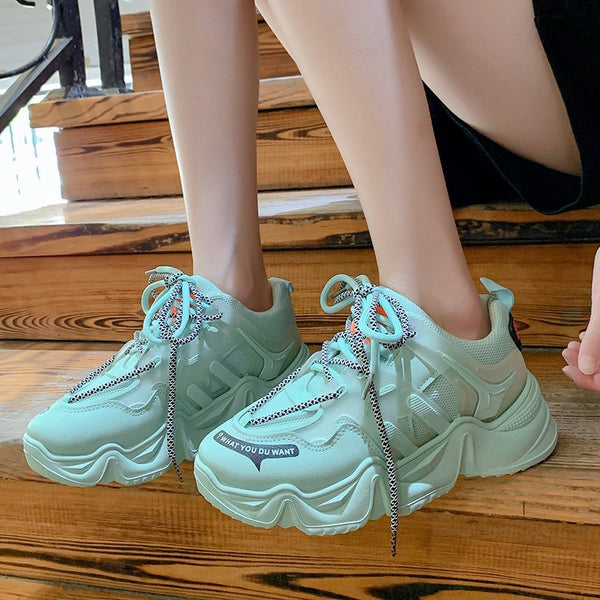 Women's Sports & Casual Sneakers/ Casual Female Chunky heels shoes - Lillie