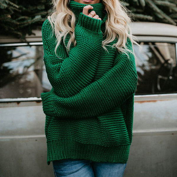 Cotton Knitted Turtleneck Women Sweaters - Lillie