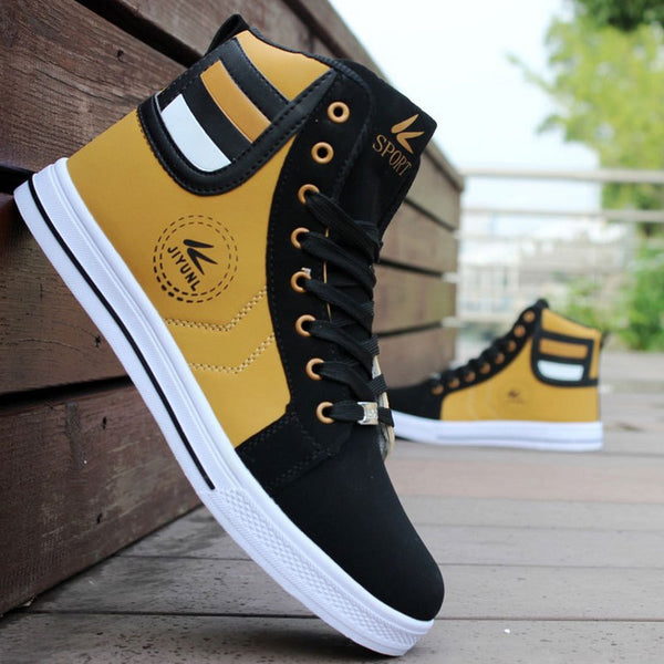 Men's Skateboarding Shoes / High Top Leisure Sneakers for Men / Breathable Street Shoes - Lillie