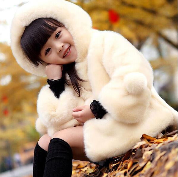 Little Girl Wool Jacket/ Winter Faux Fur Jacket for little girl - Lillie