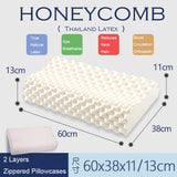 Latex Massage Pillow/Organic Cervical Honeycomb Pillow - Lillie