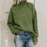 Turtleneck twist knit top pullover for women /  Winter Sweater  clothes for women - Lillie