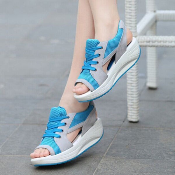 Flat Heel Sandals with Platform/  Summer Shoes for Woman - Lillie