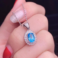 100% Natural Topaz Jewelry Set / Natural Topaz Jewelry Fashion Silver Jewelry Set - Lillie
