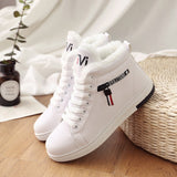Women Ankle Boots / Warm PU Plush Winter Woman Shoes Sneakers - Lillie