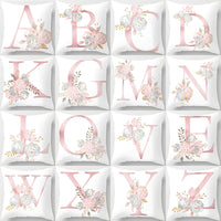 Letter printed Cushion Cover / Home Decorative Pillowcase - Lillie
