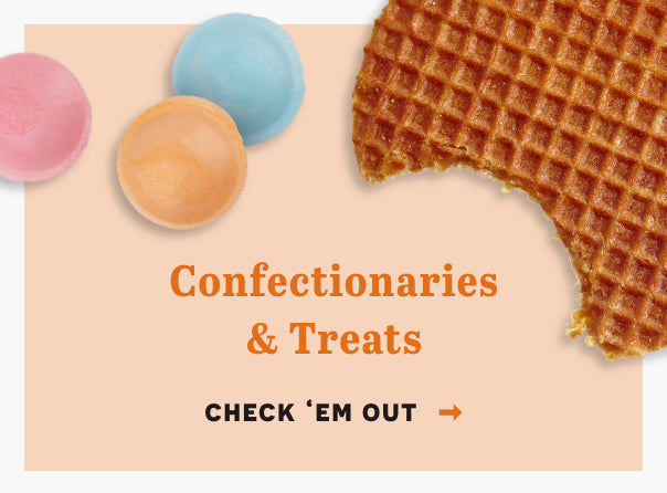 Confectionaries and treats. Click here to check 'em out