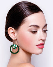 Load image into Gallery viewer, Hero Kate Mayes Layered Circle Outline Long Drop Earrings