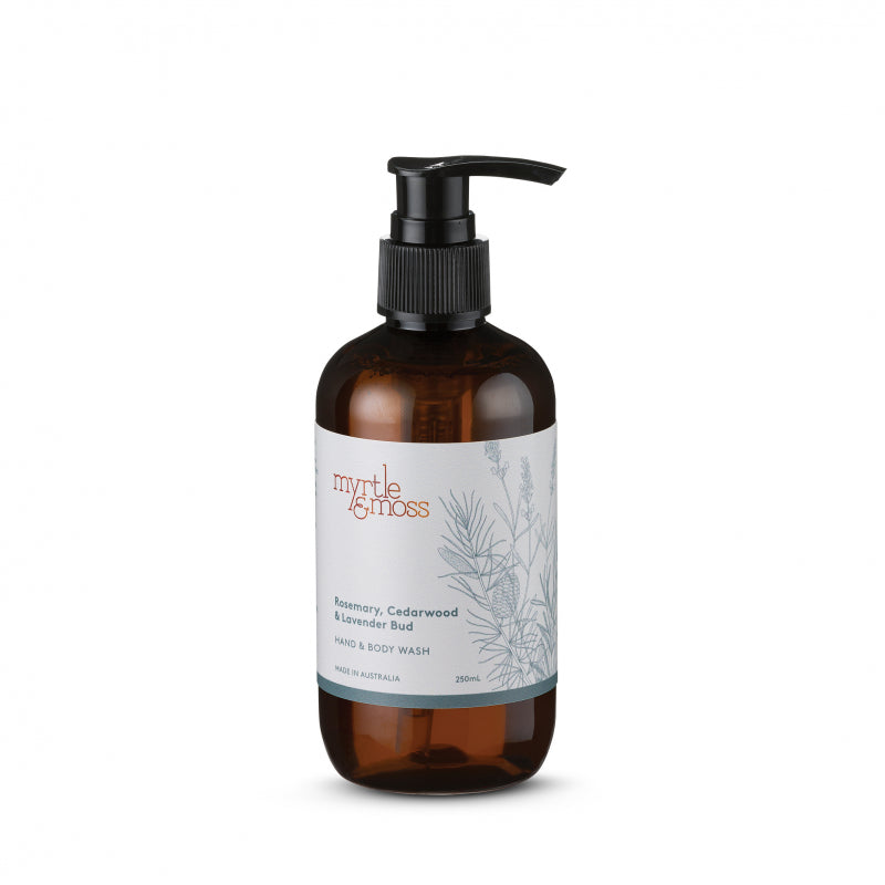 Hand & Body Wash 250ml Rosemary, Cedarwood & Lavender Bud