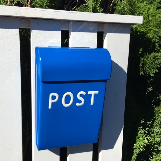 Post Box Medium Bright Blue
