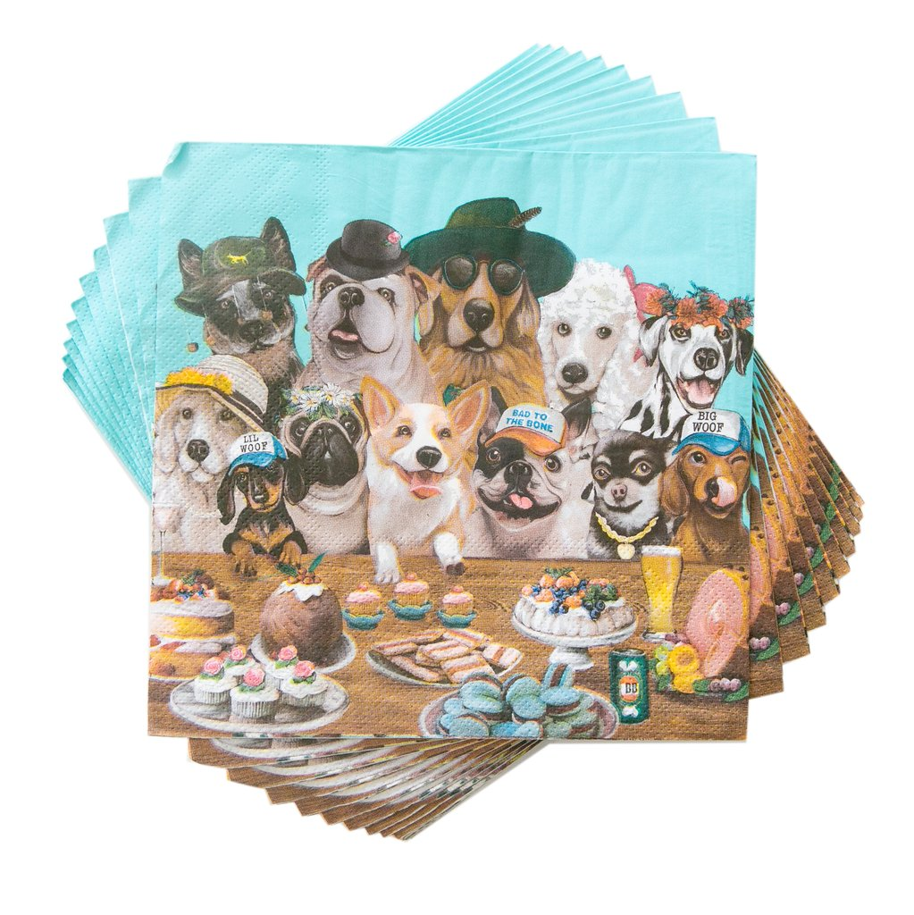 Party Napkins Canine Cuties