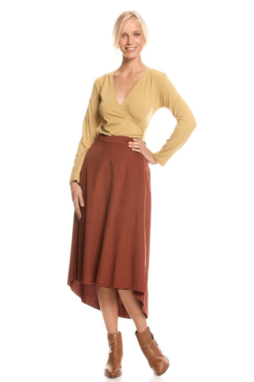 Heidi Wrap Skirt - Rust