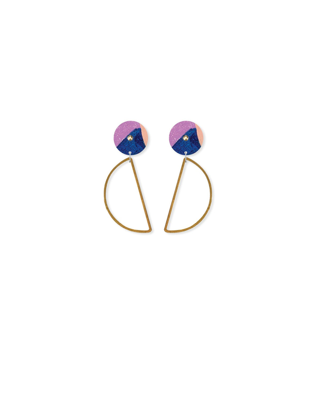 Wild Kate Mayes Hanging Moon Stud Earrings