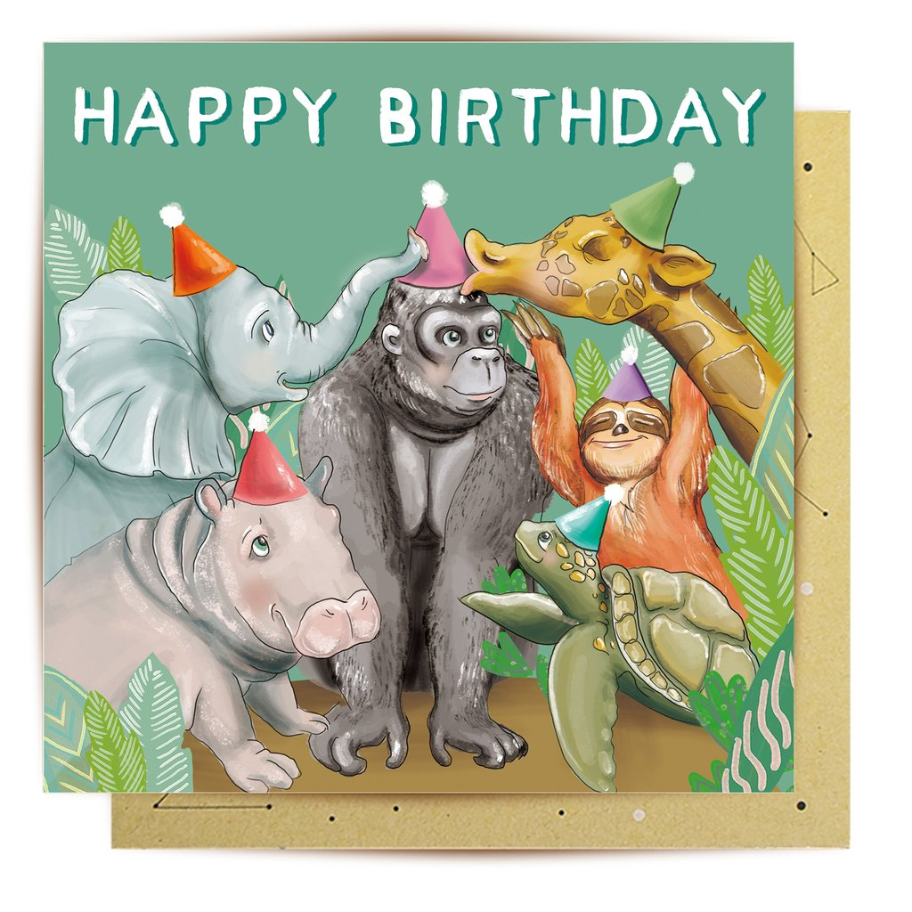 Mini Card Jungle Birthday