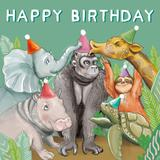 Load image into Gallery viewer, Mini Card Jungle Birthday