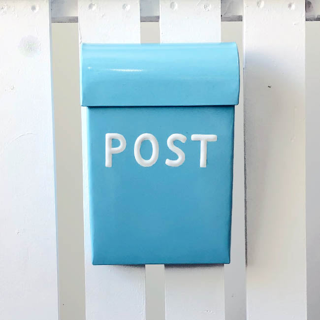 Post Box Medium Pale Blue