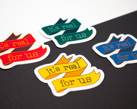 WIZARDRY - It's real for us - Qualities - Stickers