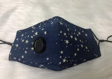 Load image into Gallery viewer, Star Night Personal Face Mask with Air Valve
