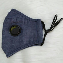 Load image into Gallery viewer, Cute Breathable Denim Personal Face Mask with Air Valve