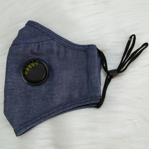 Cute Breathable Denim Personal Face Mask with Air Valve