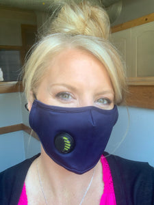 Unisex NAVY Personal Face Mask with Air Valve
