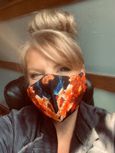 Load image into Gallery viewer, Love Bird Design Personal Face Mask with Filter Pocket