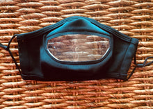 Load image into Gallery viewer, Unisex Clear Mouth Black Personal Face Mask