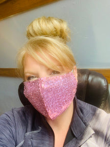 Sequin Personal Face Mask with Filter- High Quality Design
