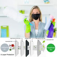 Load image into Gallery viewer, Cute White with Black Polkadot Personal Face Mask with Air Valve
