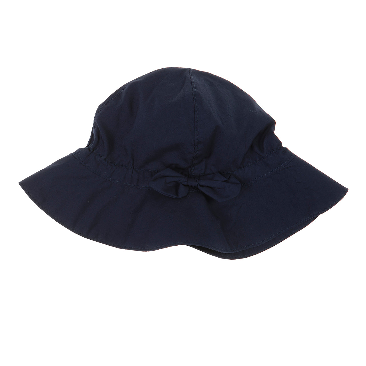 Hat with bow (white/navy blue/red)